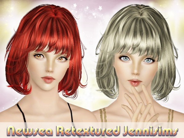 Messy Bob With Bangs Hairstyle Newsea Hair The Moment Retextured The Sims 3 Catalog