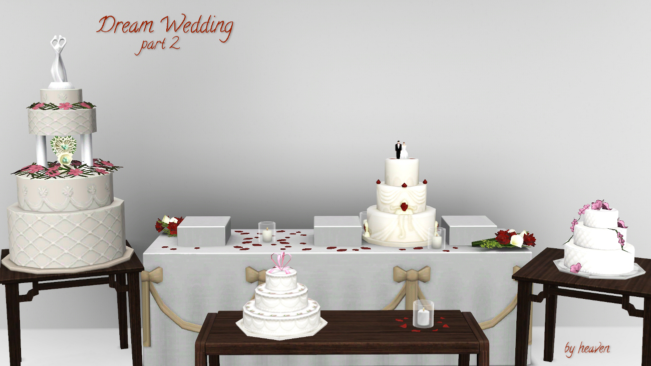 Dream Wedding Cakes - The Sims 8 Catalog