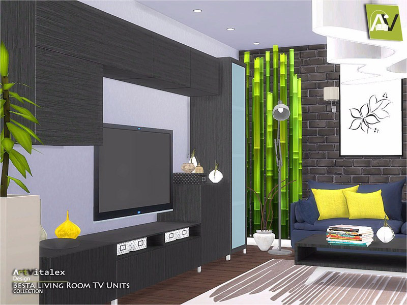 Ikea Inspired Besta Living Room Tv Units The Sims 4 Catalog