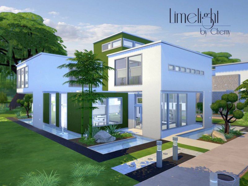 Limelight modern the sims 4 catalog for Sims 4 maison moderne