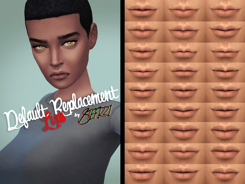 Default Replacement Lips Female The Sims 4 Catalog