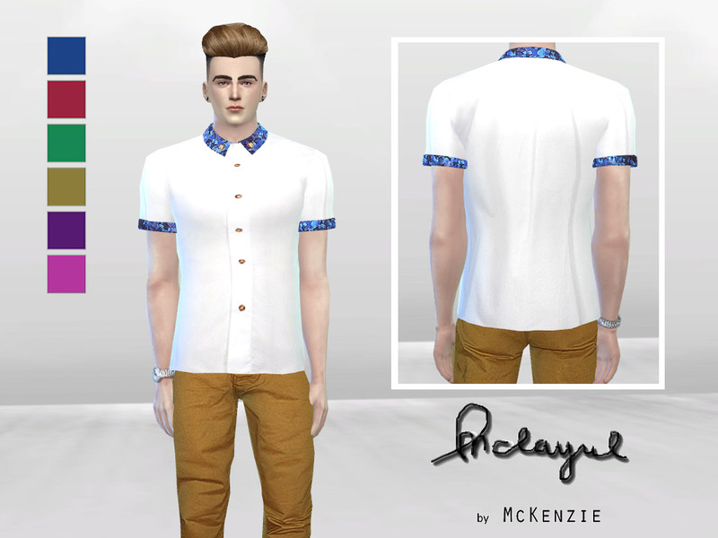 Twisted Pixel Button Up Shirt The Sims 4 Catalog