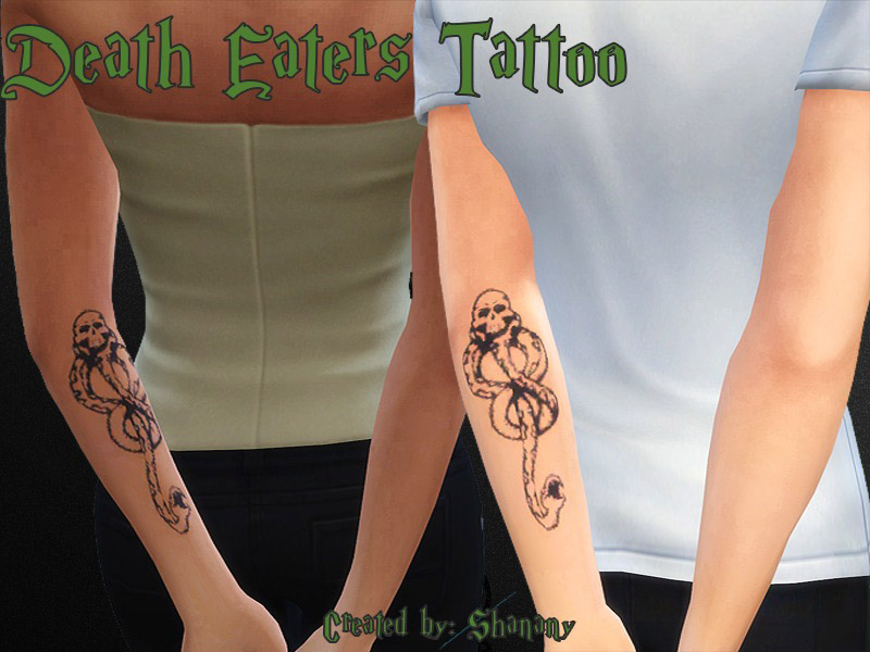 Death Eaters Tattoo The Sims 4 Catalog