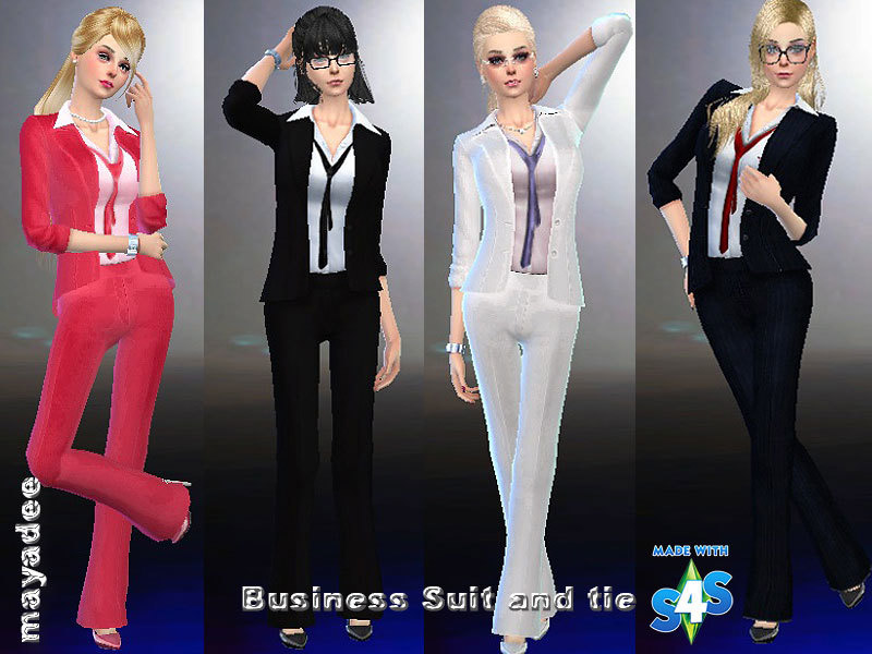 Business Suit And Tie The Sims 4 Catalog