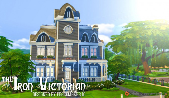 The iron victorian house the sims 4 catalog for Victorian home catalog