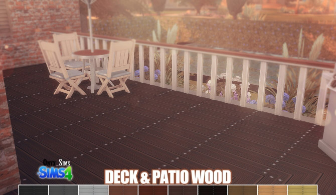 Deck and patio wood floors the sims 4 catalog for Sims 4 balcony
