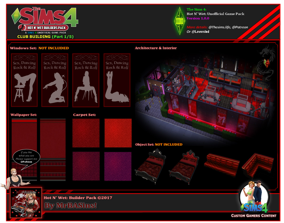 Hot N Wet Pack Adult Club The Sims 4 Catalog