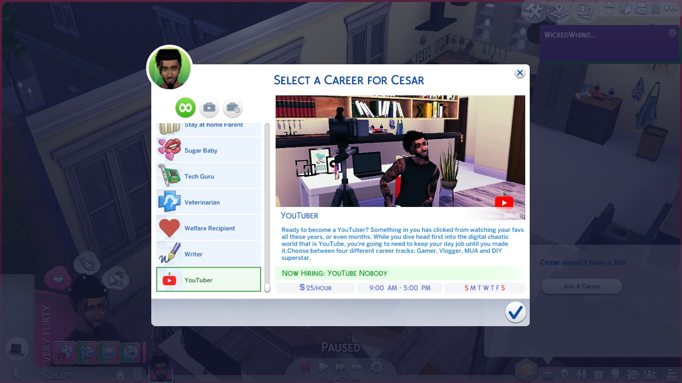 how to buy a business in sims 4