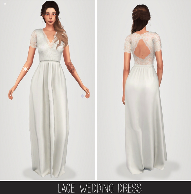 Lace Wedding Dress The Sims 4 Catalog