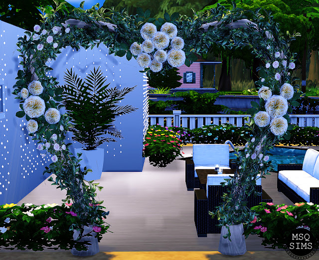 How To Build A Wedding Arch In Sims