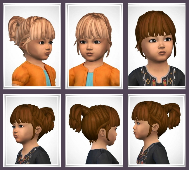 The Sims 4 Toddler Hair Free Downloads